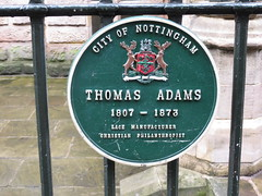 Photo of Thomas Adams green plaque