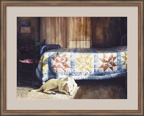 dog-nap-framed-art-print