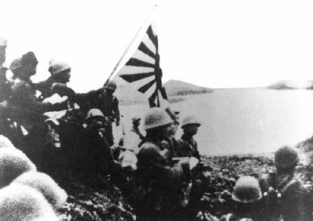 Soldados Japoneses en la Isla de Kiska