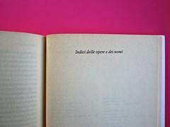 Soglie, di Gérard Genette. Einaudi 1989. Responsabilità grafica non indicata [Munari]. Indici delle opere e dei nomi: pag. 419 (part.), 1