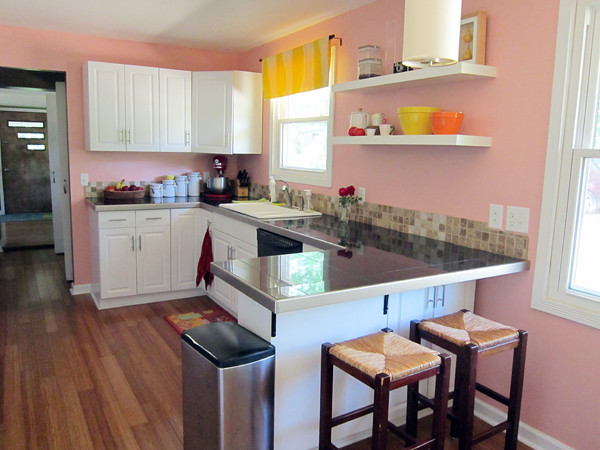 my peachy pink kitchen