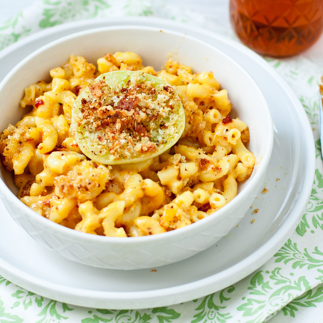 Green Tomato and Chipotle Mac & Cheese