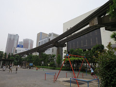 とらちゃんと芝浦公園(港区)