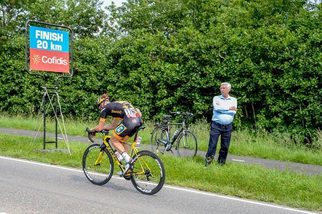 World Port Classic 2014 - Etape 2 - Anvers / Rotterdam - 25/05/2014 - jay Robert THOMSON seul en tête a 20 Km de l'arrivée