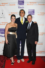 Choreographer Kiesha Lalama and Director Van Kaplan with Tommy Tune