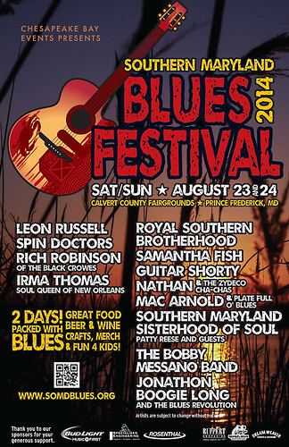 Southern Maryland Blues Festival Discount and Visit the DCBS Booth