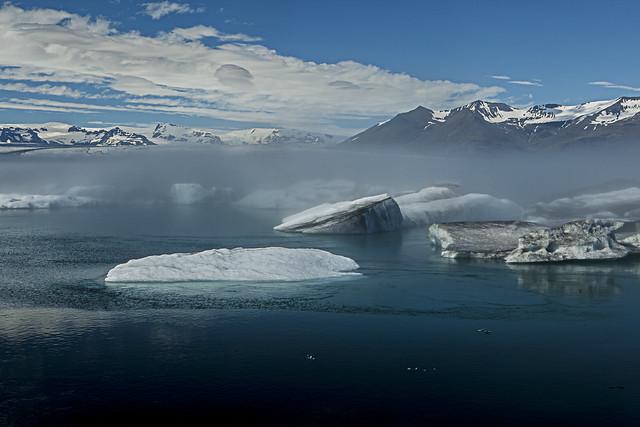 Icy fog over Glacier Lagoon - Iceland
