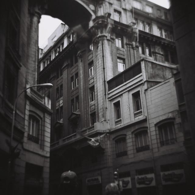 una galería en Santiago