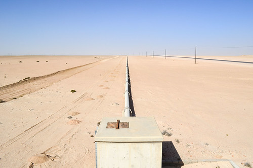 Water pipeline for the Langer Heinrich mine, Namibia