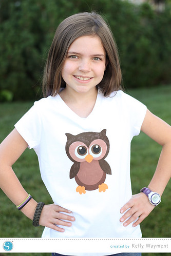 Stenciled Owl Shirt Tutorial by Kelly Wayment for Silhouette