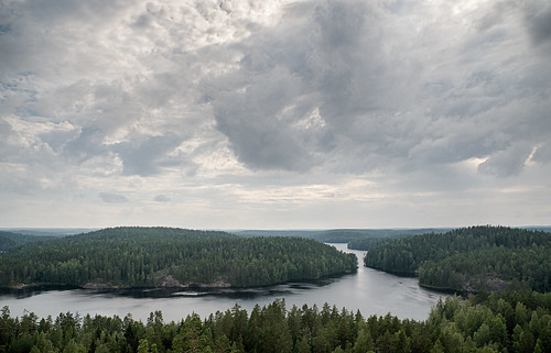 lake nature forest trekking finland landscape outdoors nationalpark day cloudy hiking