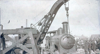 Unloading Engines - Ferry Post Suez Canal