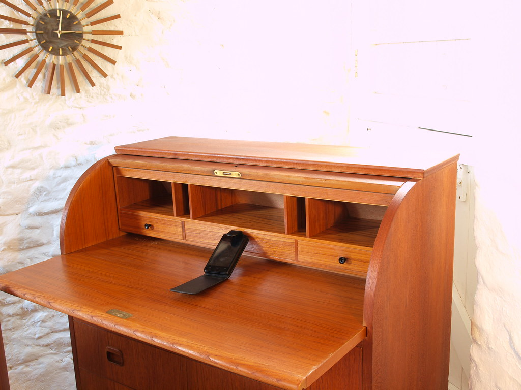 Swedish Teak Roll Top Bureau Desk View On Flickr
