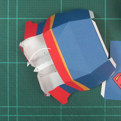 วิธีทำของเล่นโมเดลกระดาษซุปเปอร์แมน (Chibi Superman  Papercraft Model) 030