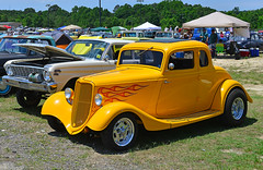 Flamed Ford coupe