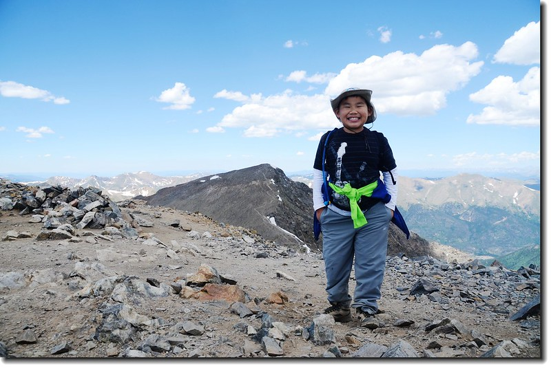 on the summit of Grays Peak