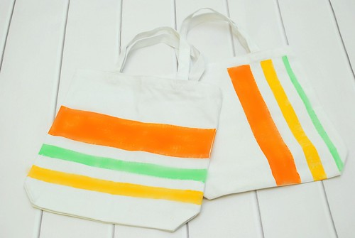 Striped Tote Bags inspired by Blitsy