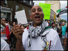 Dennis, family refugee from Nazareth, Palestine - Gaza solidarity demo Montreal 23 july 2014