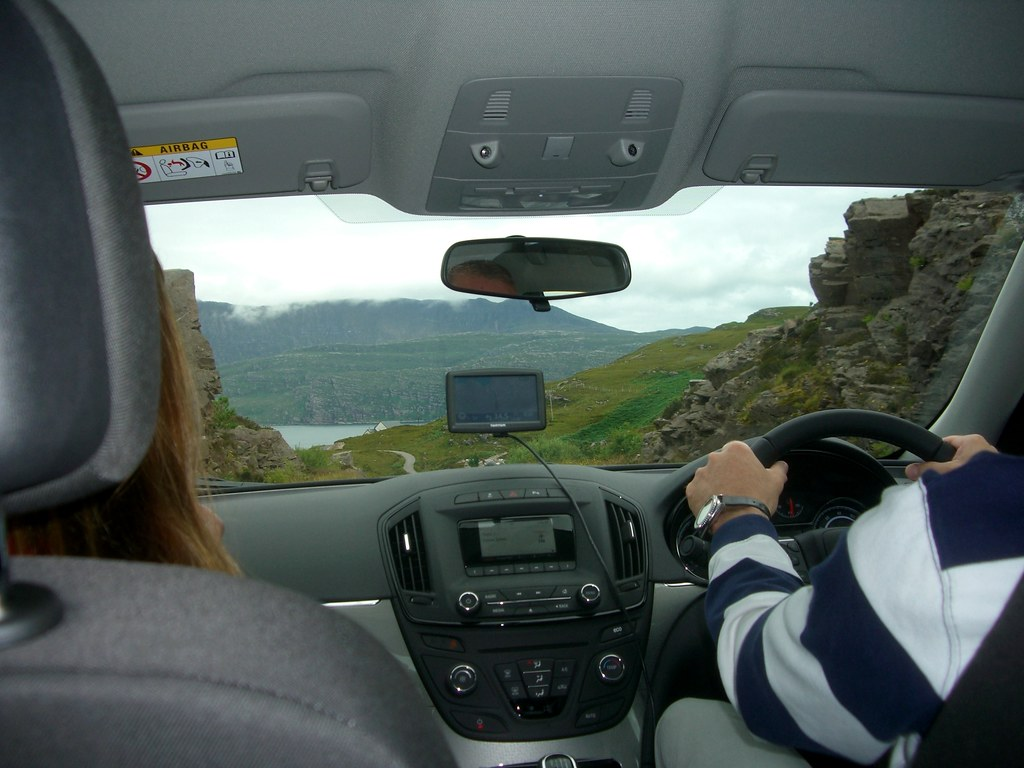 Highlands view from the backseat