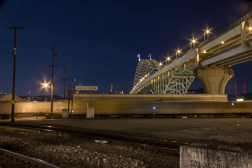 longexposure usa night oregon portland unitedstates bridges fremontbridge freeways canoneos550d canont2i terryfrederic topazdenoiseprocessed lightroom54processed
