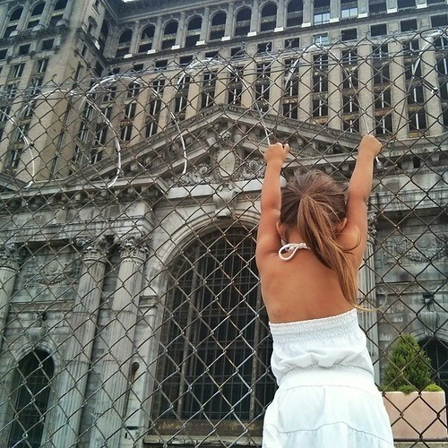 I really hope she revisits Michigan Central Station when she's grown and gets to see it restored to its former glory. #iloveoldbuildings #hopeshewilltoo