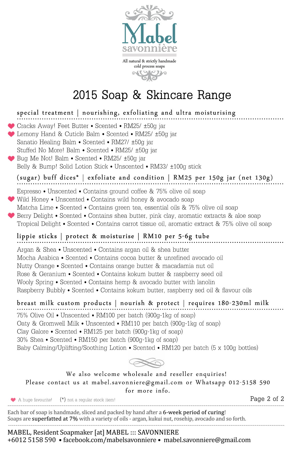 2015 Soap & Skincare Range - Page 2