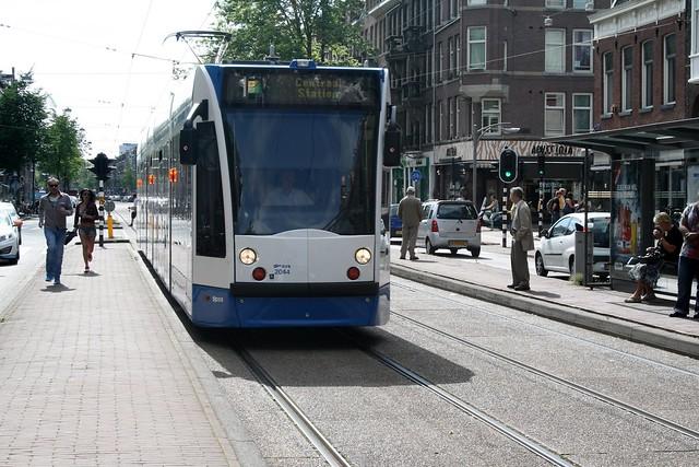 Streetcar in Amsterdam