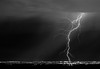 Lightning strikes the east valley during a summer thunderstorm in Phoenix, Arizona.