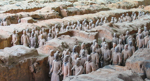 china 2006 xian agost terracota mausoleu guerrers