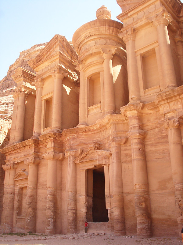 Image of the Monastery that is one of the highlights when visiting Petra, Jordan.