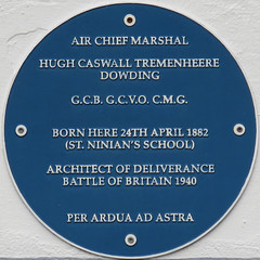 Photo of Hugh Dowding blue plaque