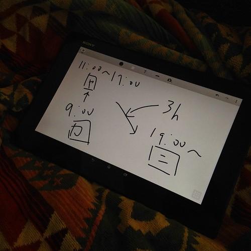 Xperia Z2 Tablet、持ち運べるホワイトボードにもなる可能性あり。ただ、スタイラスペンあったほうが良さそう。 #Xperiaアンバサダー
