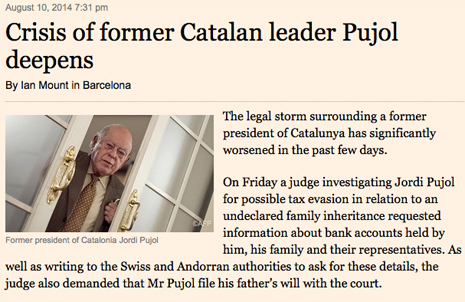 14h10 FTimes Se agrava la crisis Jordi Pujol