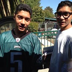 Picked up The Twins Julian & Joaquin From High School.... My Boys are growing up soo fast! #Twins #MyNephewsAreBetterThanYours #LoveMyNephews #JohnSwettHighSchool #TheBoys #cutestkidscrew