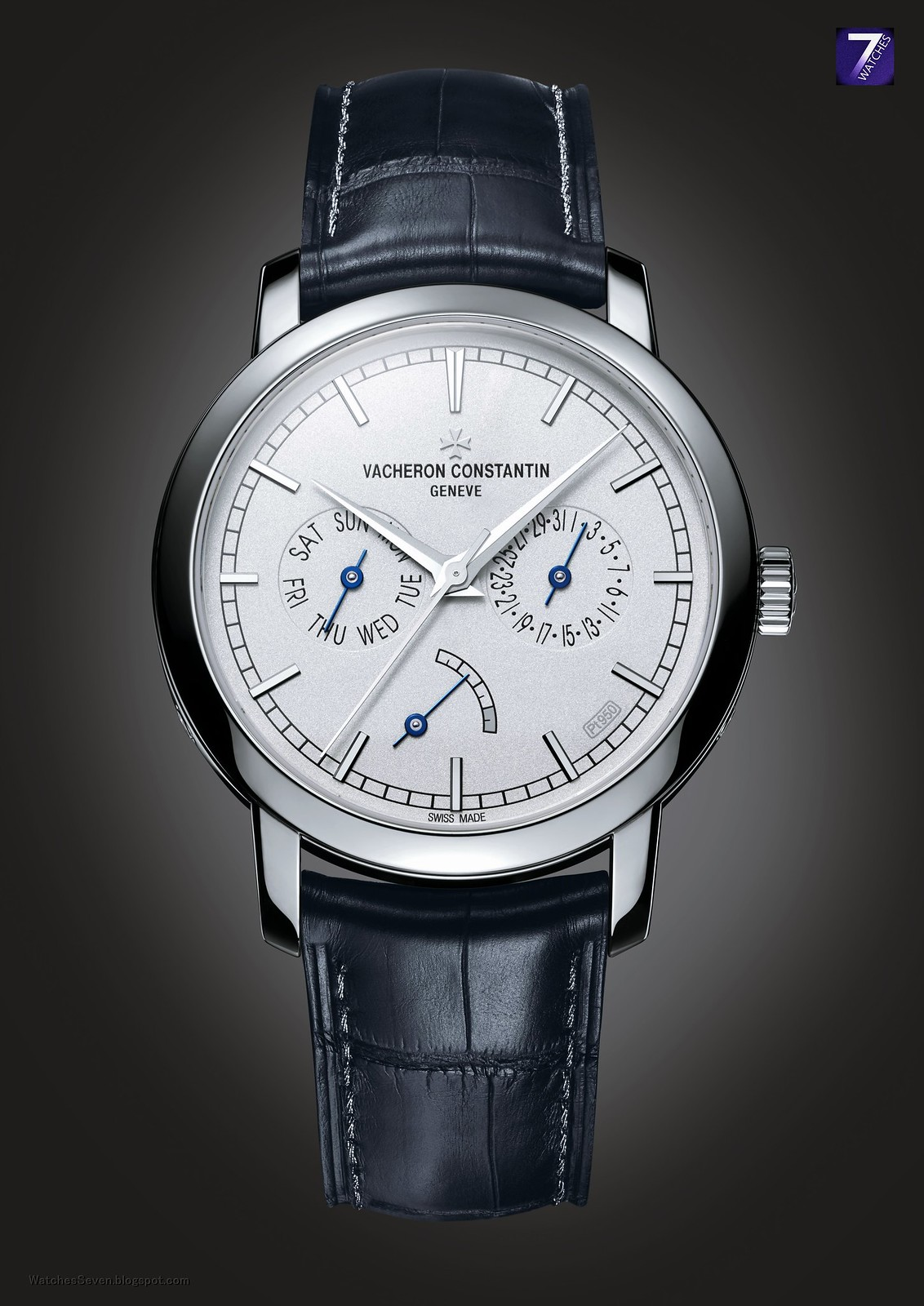 Watches 7 vacheron constantin excellence platine traditionnelle date day and power reserve for Vacheron constantin
