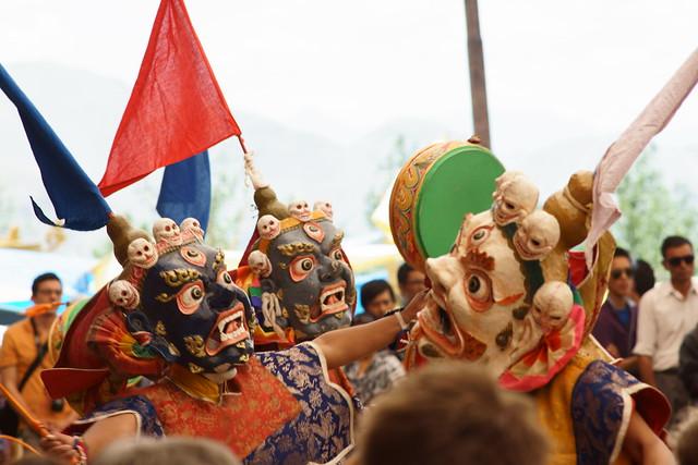 Cham dance, festival at Takthok Gompa. Ladakh, 06 Aug 2014. N055