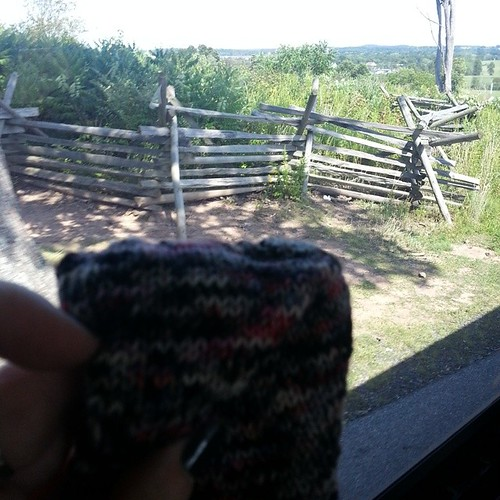 Finished 1st Spoiler sock while touring Gettysburg #operationsockdrawer