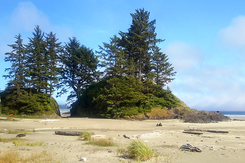 Northwest end of the Beach at Incinerator Rock, Long Beach, Tofino, West Coast Vancouver Island, British Columbia