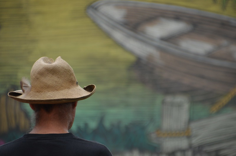 Seen at the Safeway Waterfront Blues Festival, No. 3, July 3, 2014 - It wasn't his hat that I noticed first.