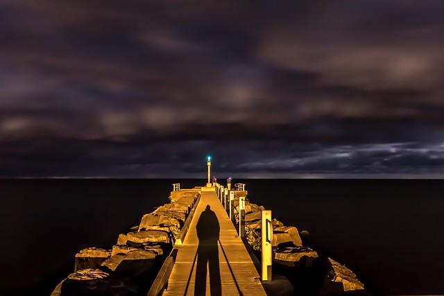 Lake Ontario at night. Webster Park.