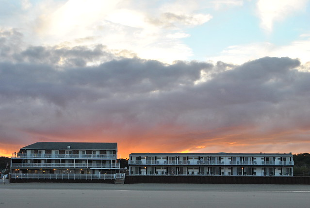 Norseman Resort at sunset