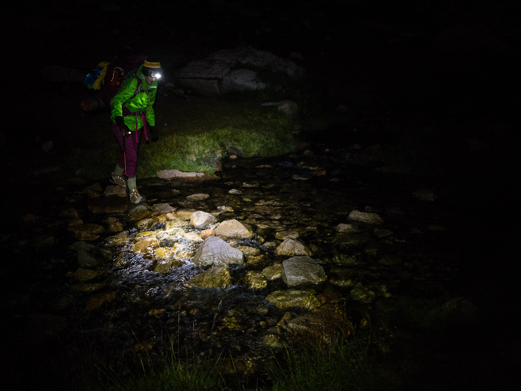 Stream crossings are more exciting at 4am!
