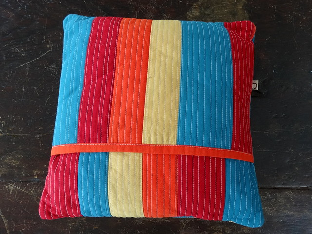 Log Cabin Pillow (back)