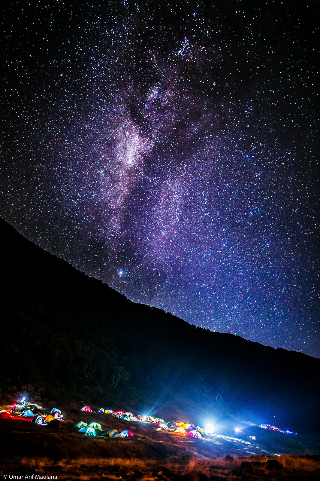 Milky Way Over Gede Mountain