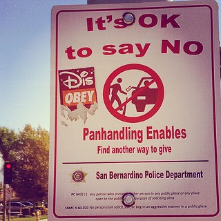 Panhandling enables #landofno   #sanbernardino #california #usa #sbx #omnitrans