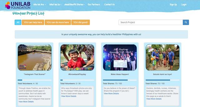#healthierPH Volunteer Portal