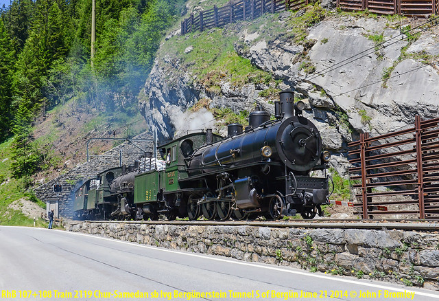 JFB 140621 026 RhB 107+108 SB Bergünerstein Tunnel Train 2119 Chur-Samedan LIGHTROOM RA-FWS