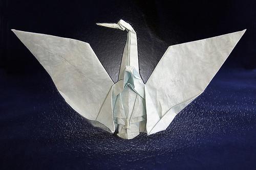 Origami 'Crane Mask' (Toyoaki Kawai)