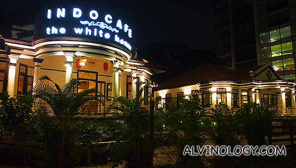 The restaurant resides in a quaint, colonial-era black and white bungalow