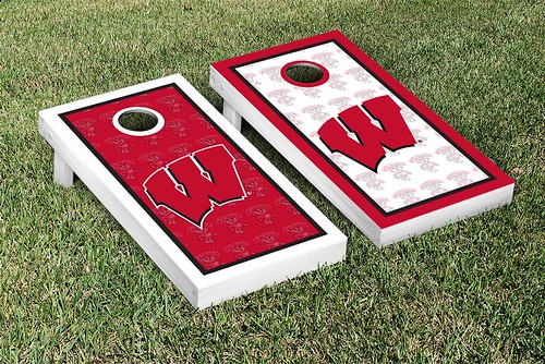 Wisconsin Badgers Cornhole Game Set Border Version 2